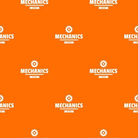 Business machinery pattern vector orange