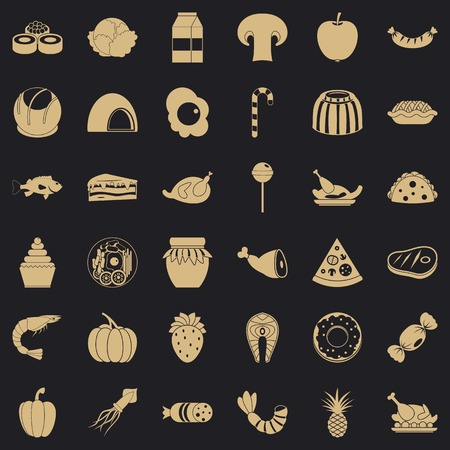 Milling icons set. Simple set of 36 milling vector icons for web for any design