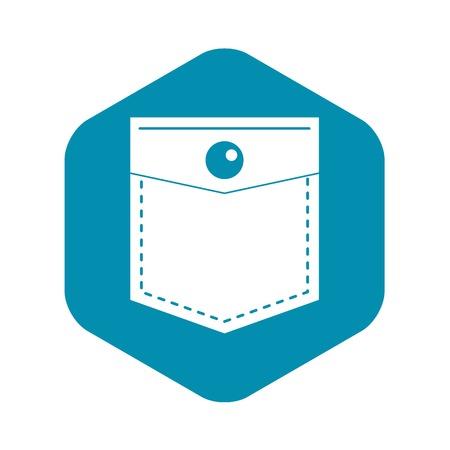 Black pocket symbol icon. Simple illustration of black pocket symbol vector icon for web Ilustrace