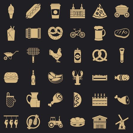 Specialty icons set. Simple set of 36 specialty vector icons for web for any design 写真素材 - 130243393