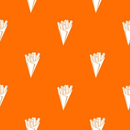 French fries pattern vector orange