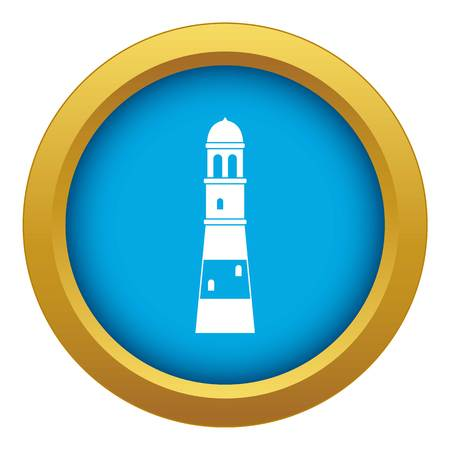 Lighthouse icon blue vector isolated on white background for any design
