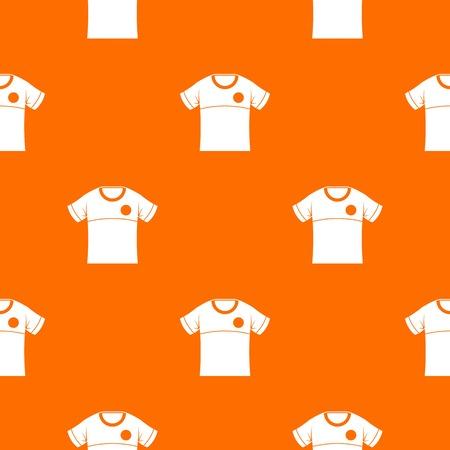 Shirt pattern vector orange