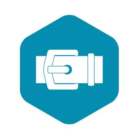 Elegant belt icon. Simple illustration of elegant belt vector icon for web