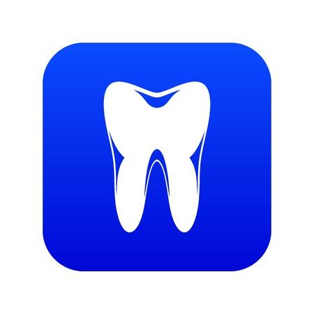 Human tooth icon digital blue