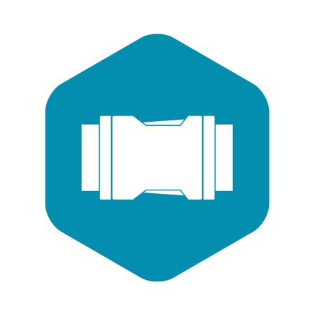 Side release buckle icon. Simple illustration of side release buckle vector icon for web