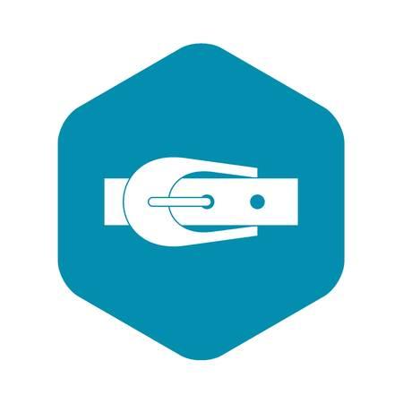 Elegant trousers belt icon. Simple illustration of elegant trousers belt vector icon for web Çizim