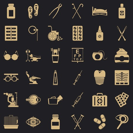 Wholesome icons set. Simple set of 36 wholesome vector icons for web for any design Illustration