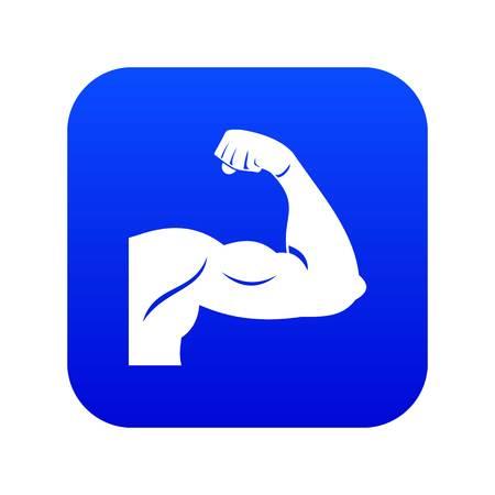 Biceps icon digital blue for any design isolated on white vector illustration Standard-Bild - 130243534
