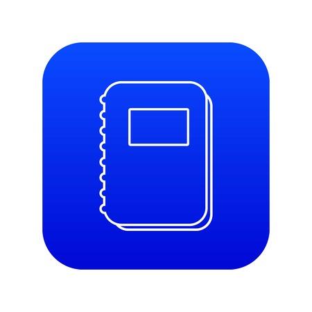 Notebook icon blue vector Vecteurs