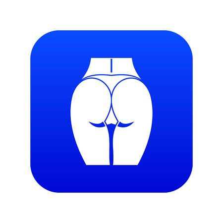 Buttocks of girl icon digital blue