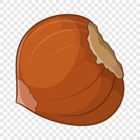 Hazelnut icon, cartoon style
