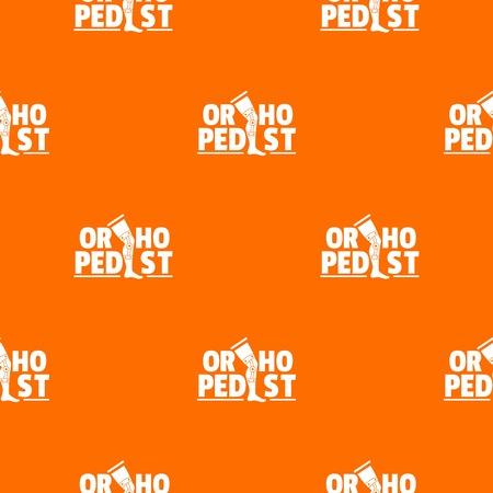 Orthopedic pattern vector orange