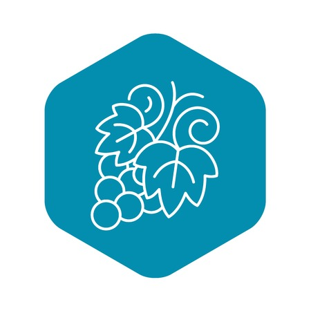 Grapes icon, outline style
