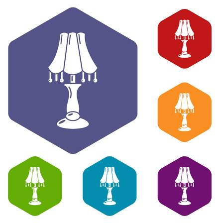 Close lamp icon, simple style