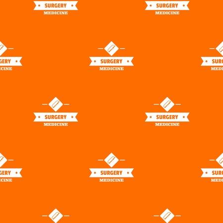 Surgery medicine pattern vector orange  イラスト・ベクター素材