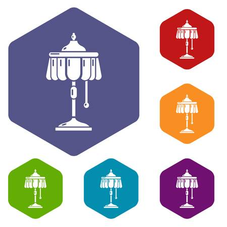 Electric lamp icon, simple style Illustration