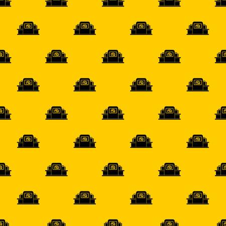 Airport baggage security scanner pattern seamless vector repeat geometric yellow for any design Çizim