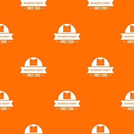 Orthopedic therapy pattern vector orange