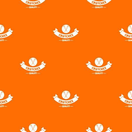 Quality crutches pattern vector orange  イラスト・ベクター素材