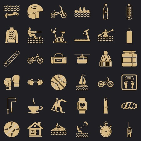Men health icons set. Simple set of 36 men health vector icons for web for any design