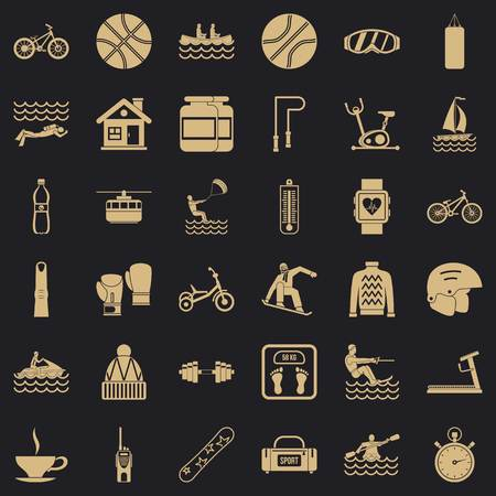 People health icons set. Simple set of 36 people health vector icons for web for any design