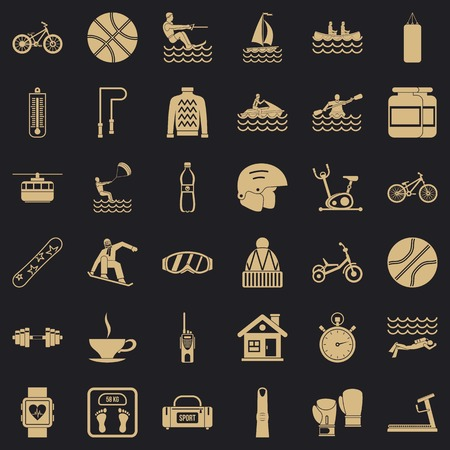 Public health icons set. Simple set of 36 public health vector icons for web for any design Stock Illustratie