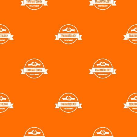 Treatment pattern vector orange  イラスト・ベクター素材