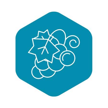 Concord grape icon, outline style