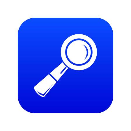 School loupe icon blue vector isolated on white background Çizim