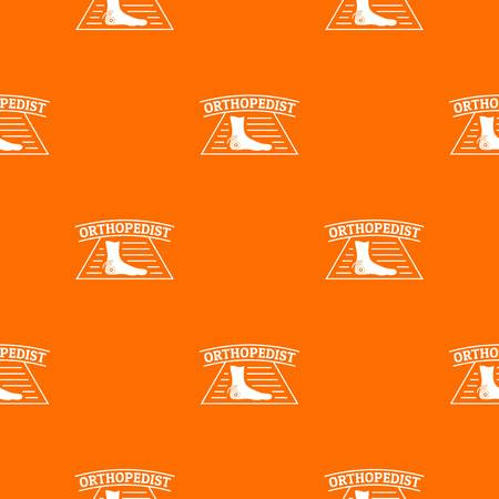 Leg orthopedic pattern vector orange