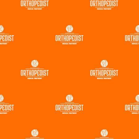 Medical treatment pattern vector orange  イラスト・ベクター素材
