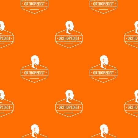 Neck orthopedic pattern vector orange
