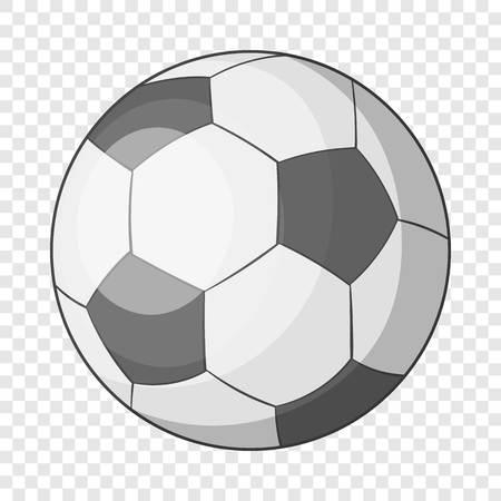 Soccer ball icon, cartoon style