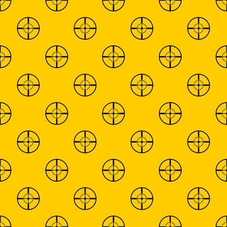 Aim pattern seamless vector repeat geometric yellow for any design Иллюстрация