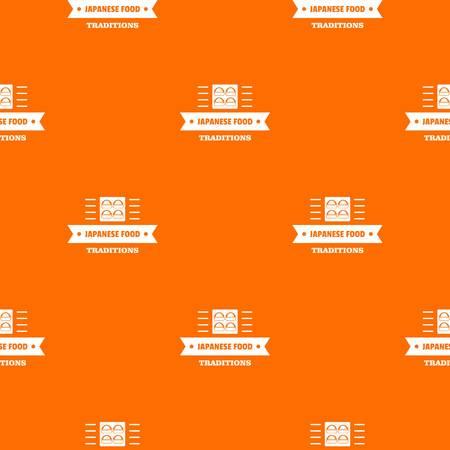 Japanese food pattern vector orange Illustration
