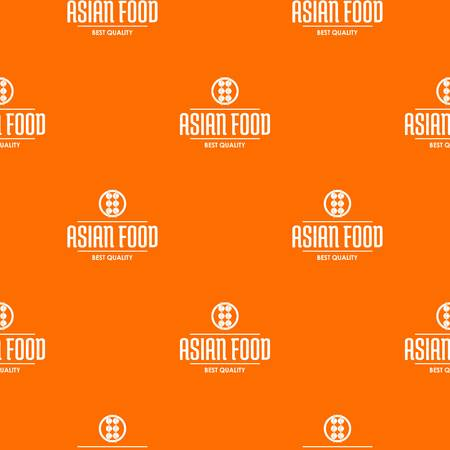 Quality asian food pattern vector orange for any web design best