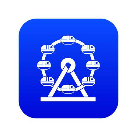 Giant ferris wheel icon digital blue