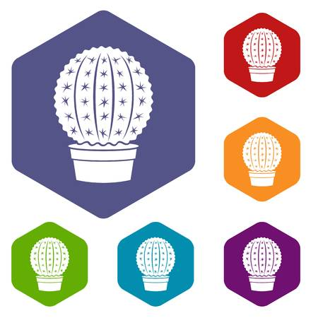 Echinocactus icon, simple style 矢量图像