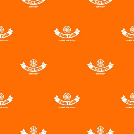 Hot asian food pattern vector orange