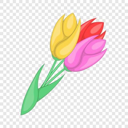 Tulips icon. Cartoon illustration of tulips vector icon for web design