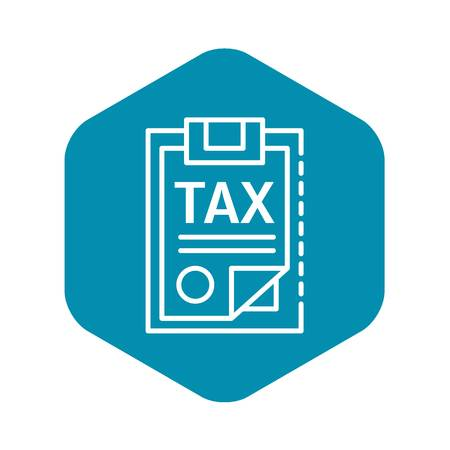 Tax checklist icon. Outline tax checklist vector icon for web design isolated on white background