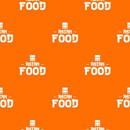 Menu asian food pattern vector orange