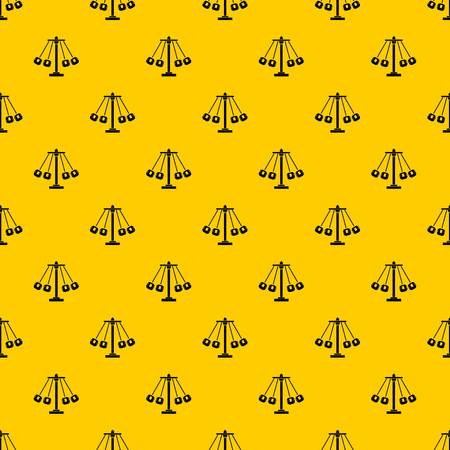 Carnival swing ride pattern seamless vector repeat geometric yellow for any design