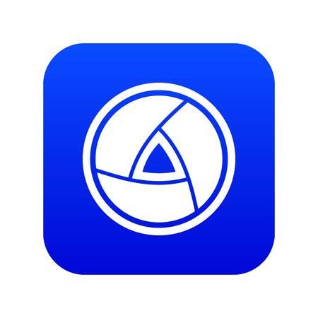 Objective icon digital blue