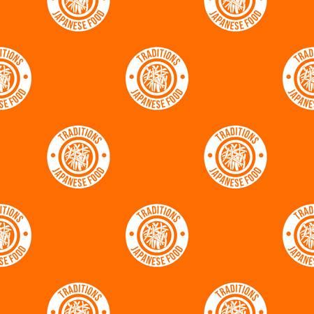 Sushi japanese food pattern vector orange