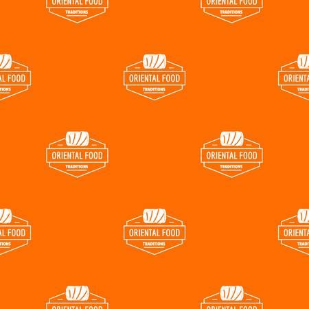 Oriental food pattern vector orange