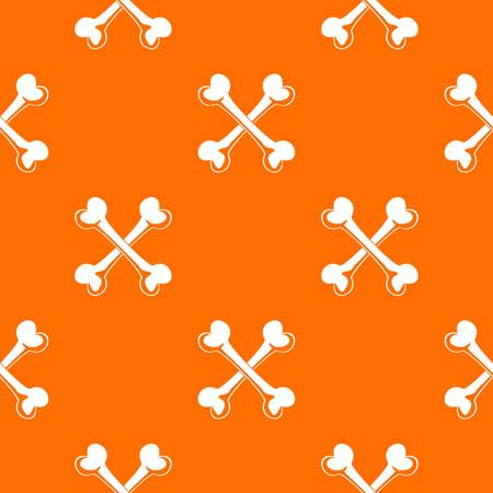 Bone pattern vector orange
