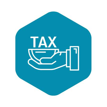 Half tax size icon. Outline half tax size vector icon for web design isolated on white background
