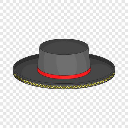 Black man fedora hat icon. Cartoon illustration of black man fedora hat vector icon for web Ilustração